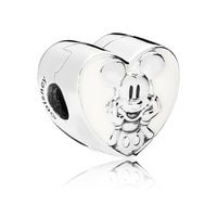 Image of Mickey Mouse Vintage Heart Charm by PANDORA # 2