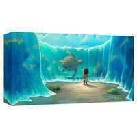 Image of ''Moana's New Friend'' Giclee on Canvas by Rob Kaz # 1