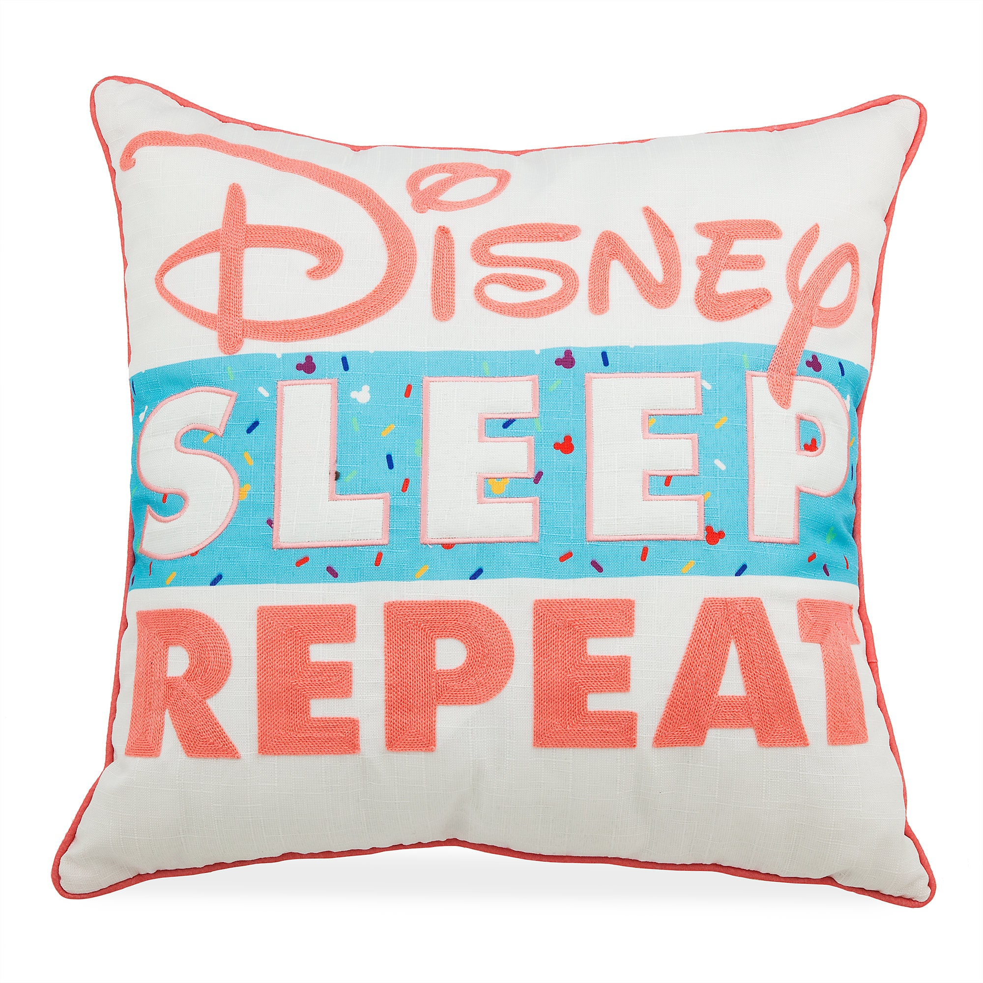 ''Disney Sleep Repeat'' Pillow