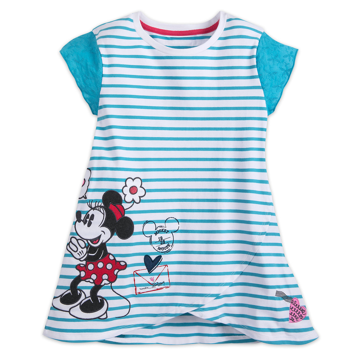 Mickey and Minnie Mouse Sweethearts Striped T-Shirt - Girls | shopDisney