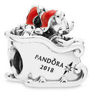 Image of Santa Mickey and Minnie Mouse Charm by PANDORA - Disney Parks 2018 # 2