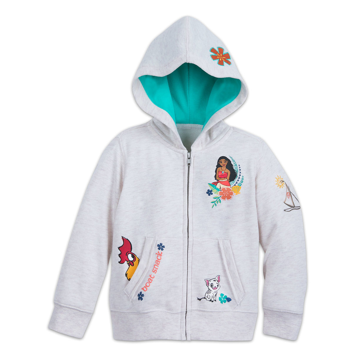 702a80e94f0 Product Image of Moana Zip-Up Hooded Fleece for Girls   1