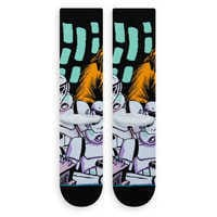 Image of Star Wars Warped Chewbacca Socks for Adults by Stance # 3