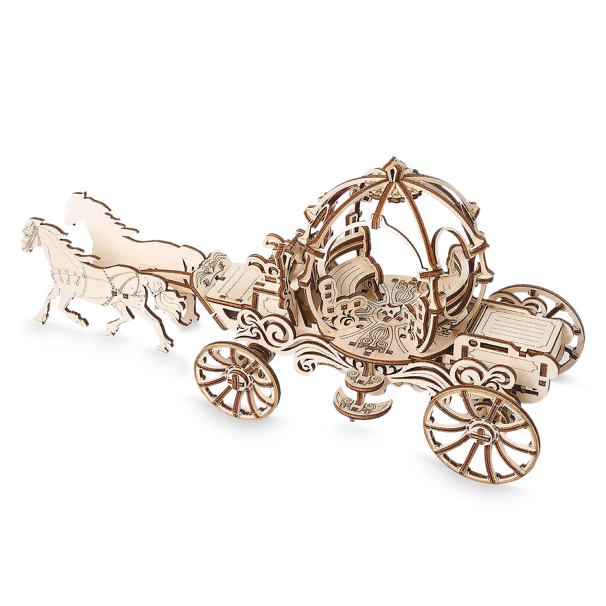 Cinderella Carriage Wooden Puzzle