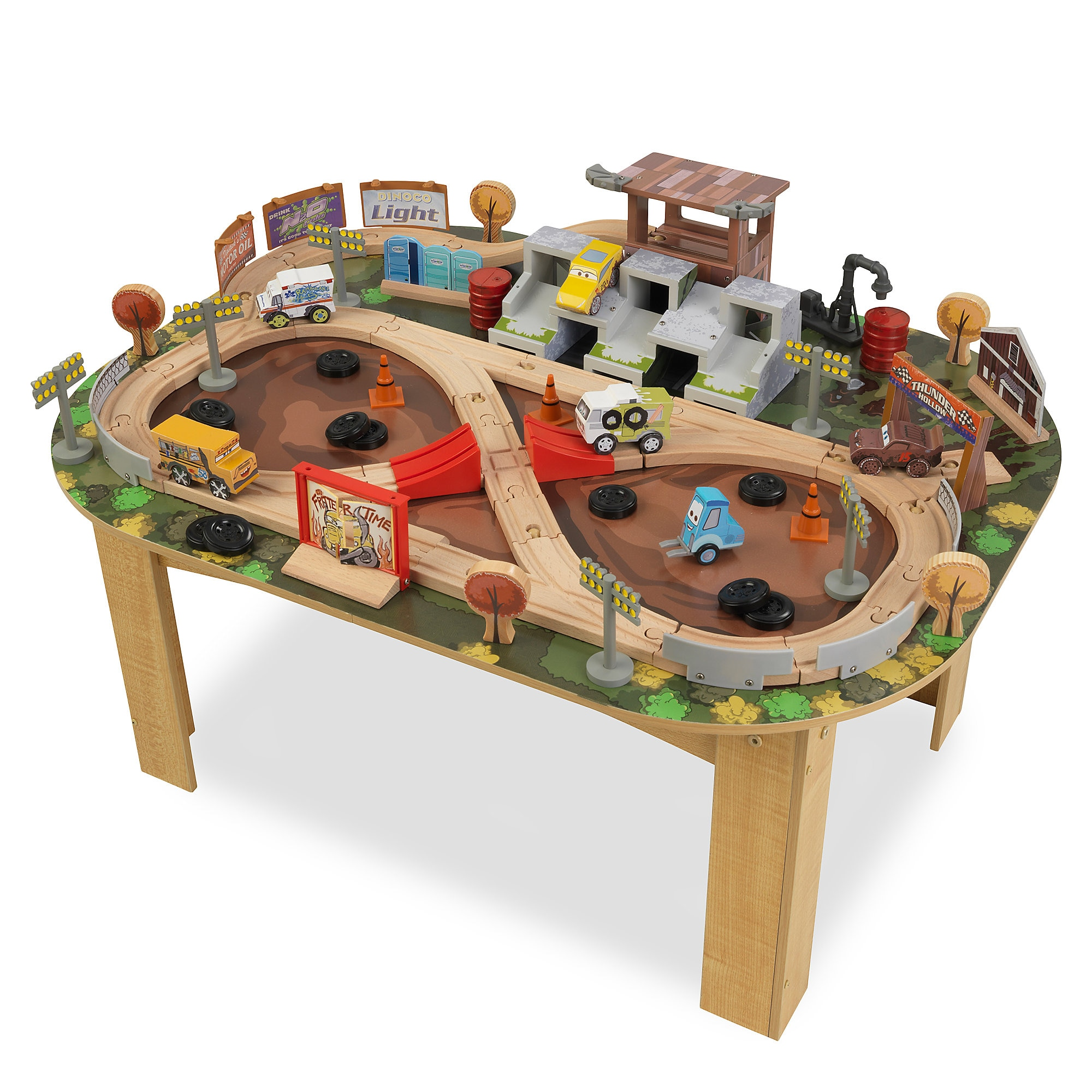 Cars 3 Thunder Hollow Track Set and Table by KidKraft