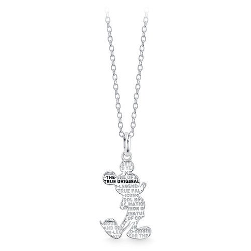 Mickey Mouse Silhouette Pendant Necklace