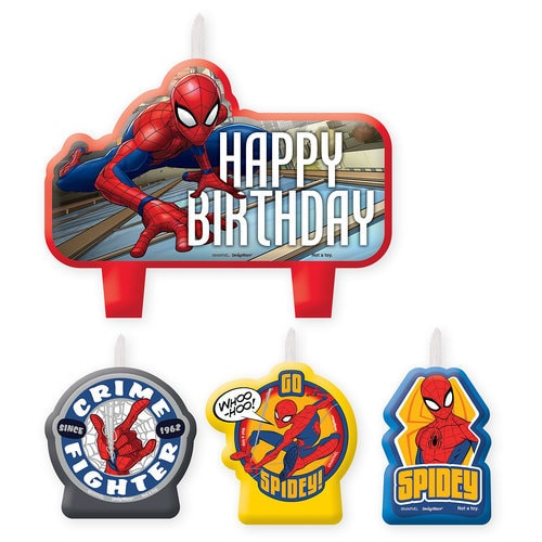 Spider-Man Webbed Wonder Birthday Candle Set