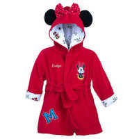 Minnie Mouse Hooded Bath Robe For Baby   Personalizable by Disney