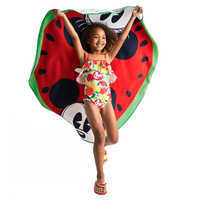 Image of Mickey and Minnie Mouse Watermelon Beach Towel - Summer Fun # 2