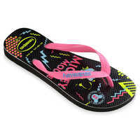Image of Mickey Mouse Neon Flip Flops for Adults by Havaianas - 1980s # 2