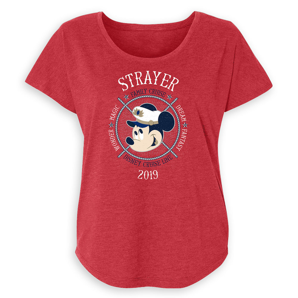 Women's Captain Mickey Mouse Disney Cruise Line Ships Family Cruise 2019 T-Shirt - Customized