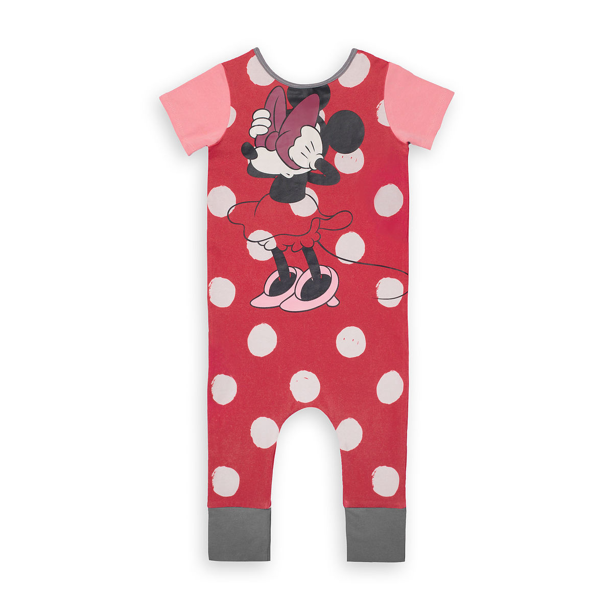 Product Image Of Minnie Mouse Polka Dot Romper For Baby And Toddler By Rags 1