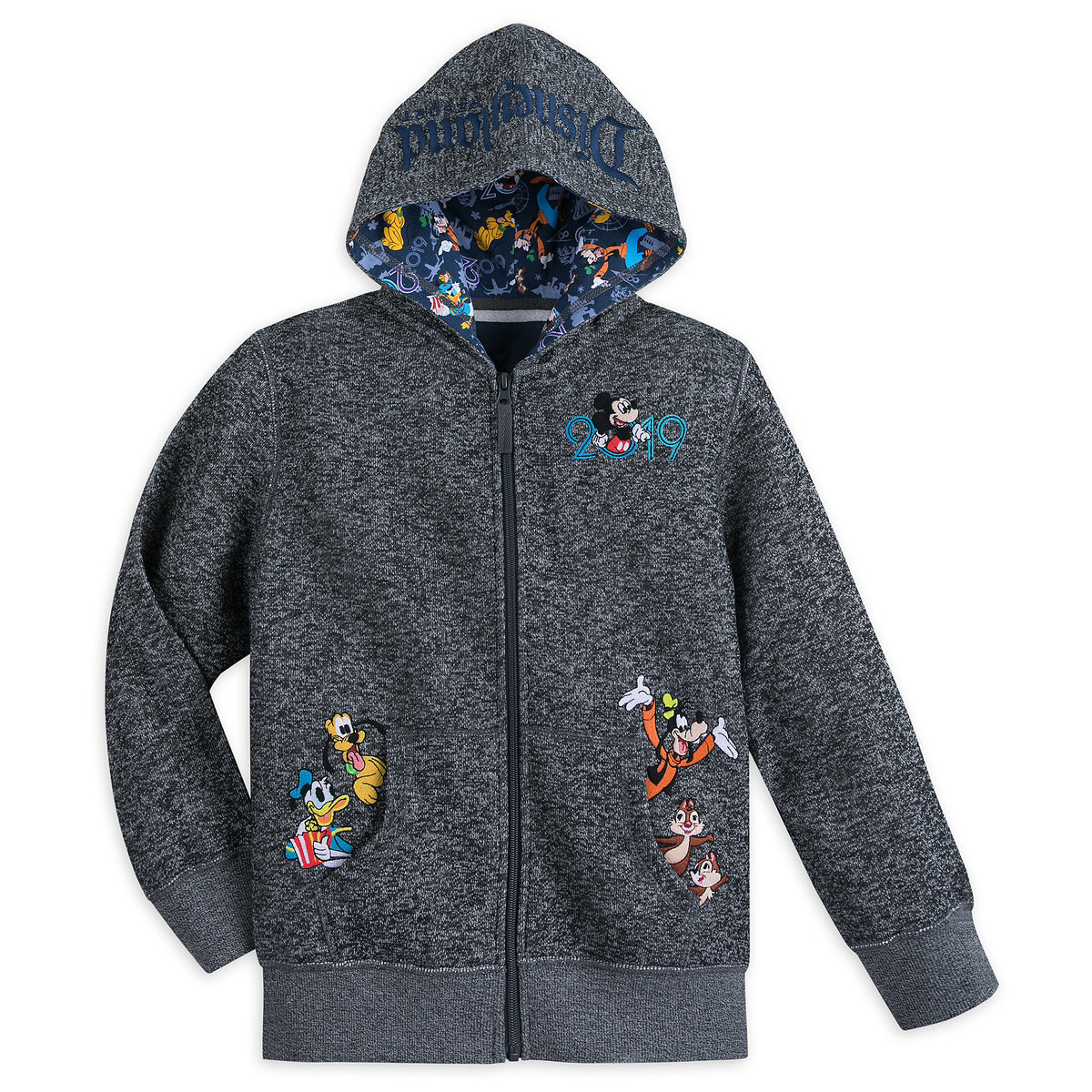 02e91b964a40 Product Image of Mickey Mouse and Friends Knit Hoodie for Boys - Disneyland  2019 # 1