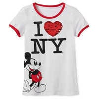 Image of Mickey Mouse Reversible Sequin T-Shirt for Women - New York City # 2