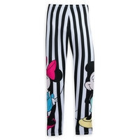 Image of Mickey and Minnie Mouse Striped Leggings for Women by Sugarbird # 2