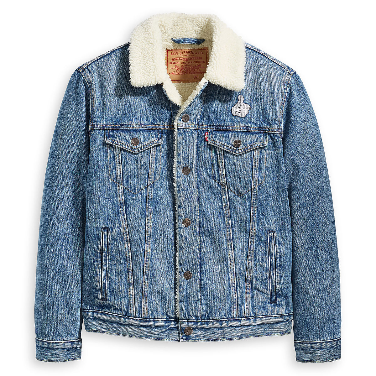Product Image of Mickey Mouse Faux Fur Denim Jacket for Men by Levi s   1 b97598187