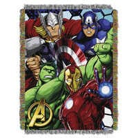 Image of Avengers Woven Tapestry Throw # 1