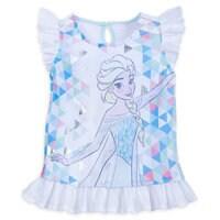 Image of Elsa Shirt and Shorts Set for Girls # 2