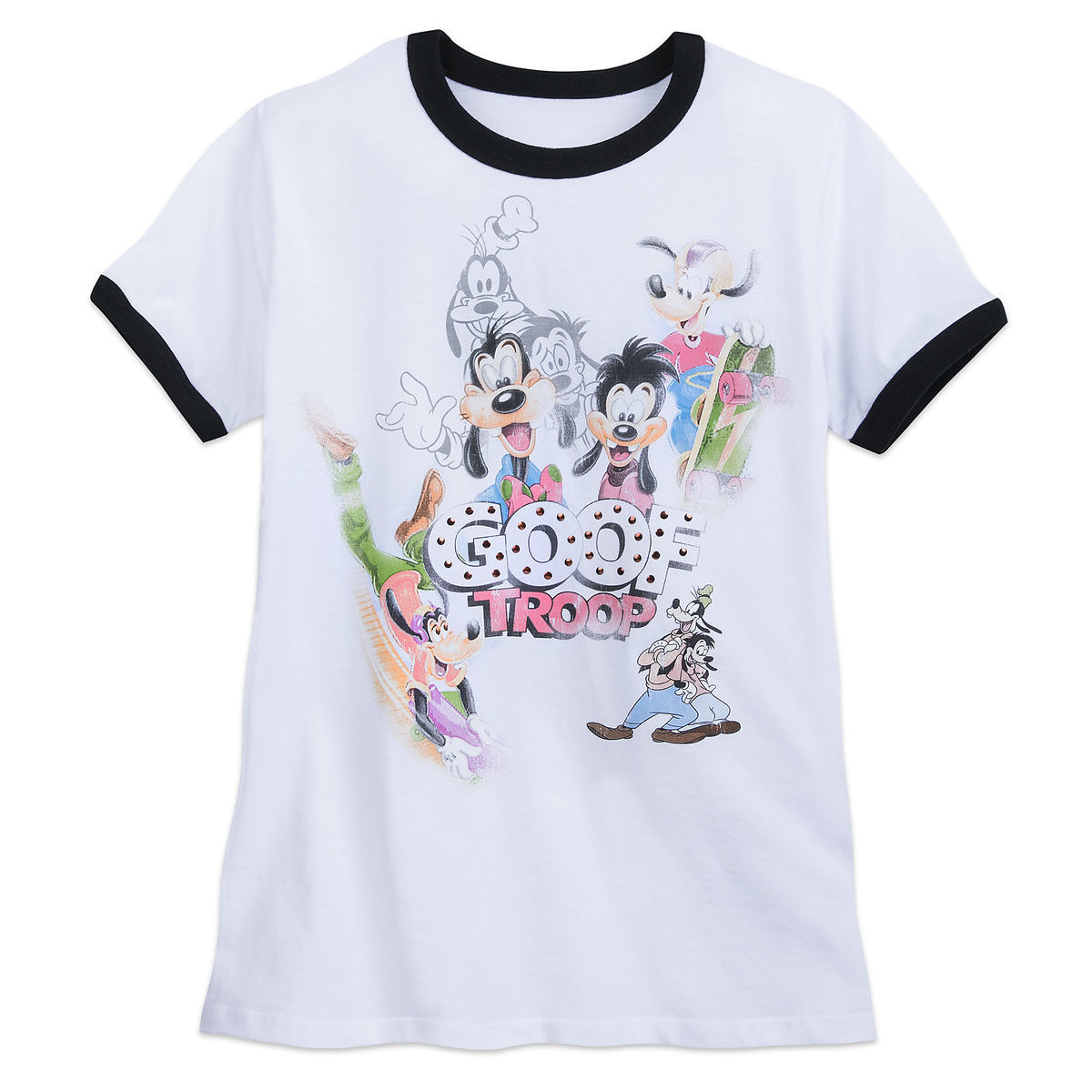 Product Image of Goof Troop Ringer T-Shirt for Women # 1