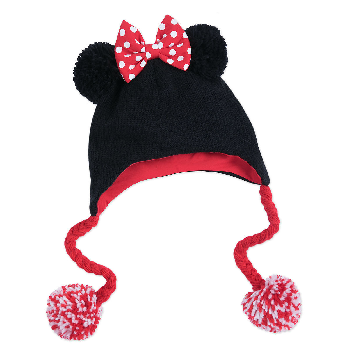 6fdab19a746 Product Image of Minnie Mouse Knit Hat for Adults   1