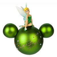 Tinker Bell Mickey Mouse Head Ornament by Disney