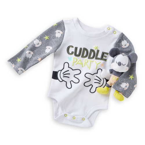 Disney Mickey Mouse Bodysuit and Rattle Gift Set for Baby