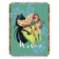 Image of Mulan Woven Tapestry Throw Blanket # 1