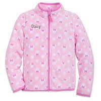 Image of Minnie Mouse Zip Fleece Jacket for Kids - Personalizable # 1