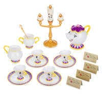 Image of Beauty and the Beast ''Be Our Guest'' Singing Tea Cart Play Set # 3