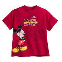 Image of Mickey Mouse T-Shirt for Kids - Walt Disney World 2018 - Red # 1