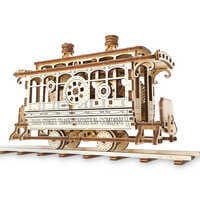 Image of Main Street U.S.A. Trolley Wooden Puzzle by UGears # 2