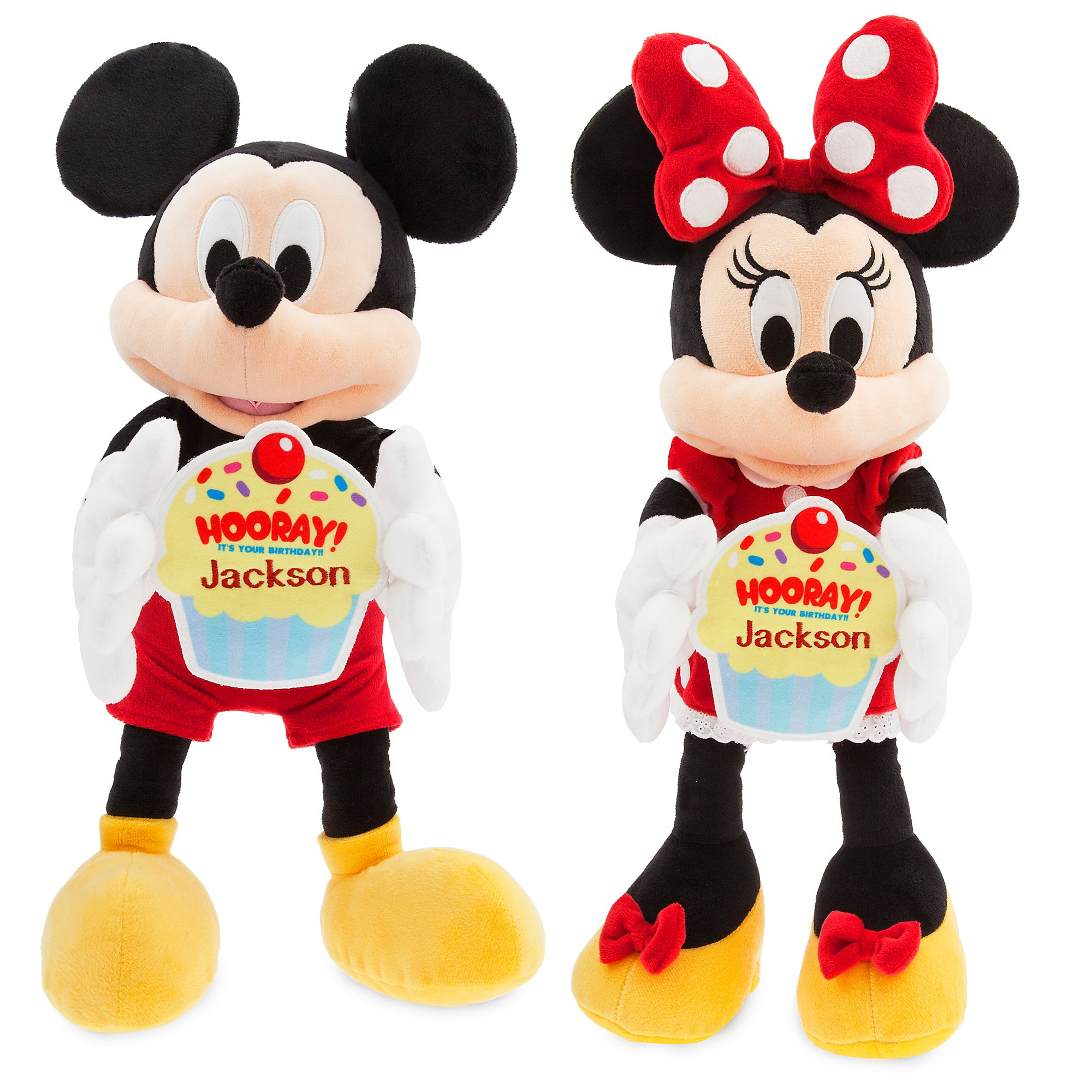 Mickey and Minnie Mouse ''Happy Birthday'' Message Plush Collection
