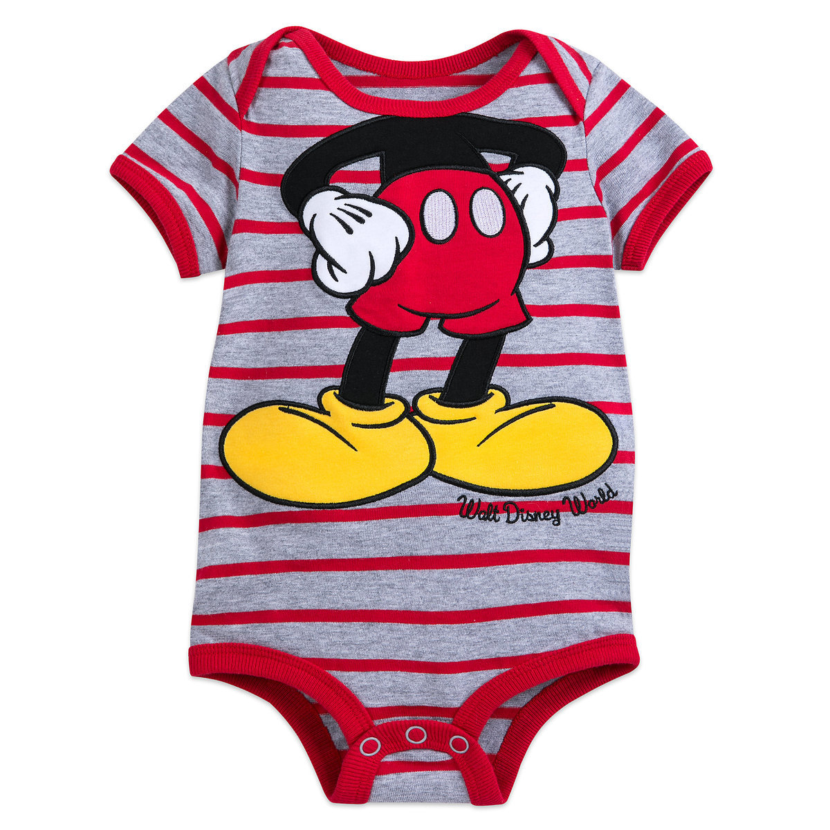 961f84844 Product Image of Mickey Mouse Striped Bodysuit for Baby - Walt Disney World  # 1