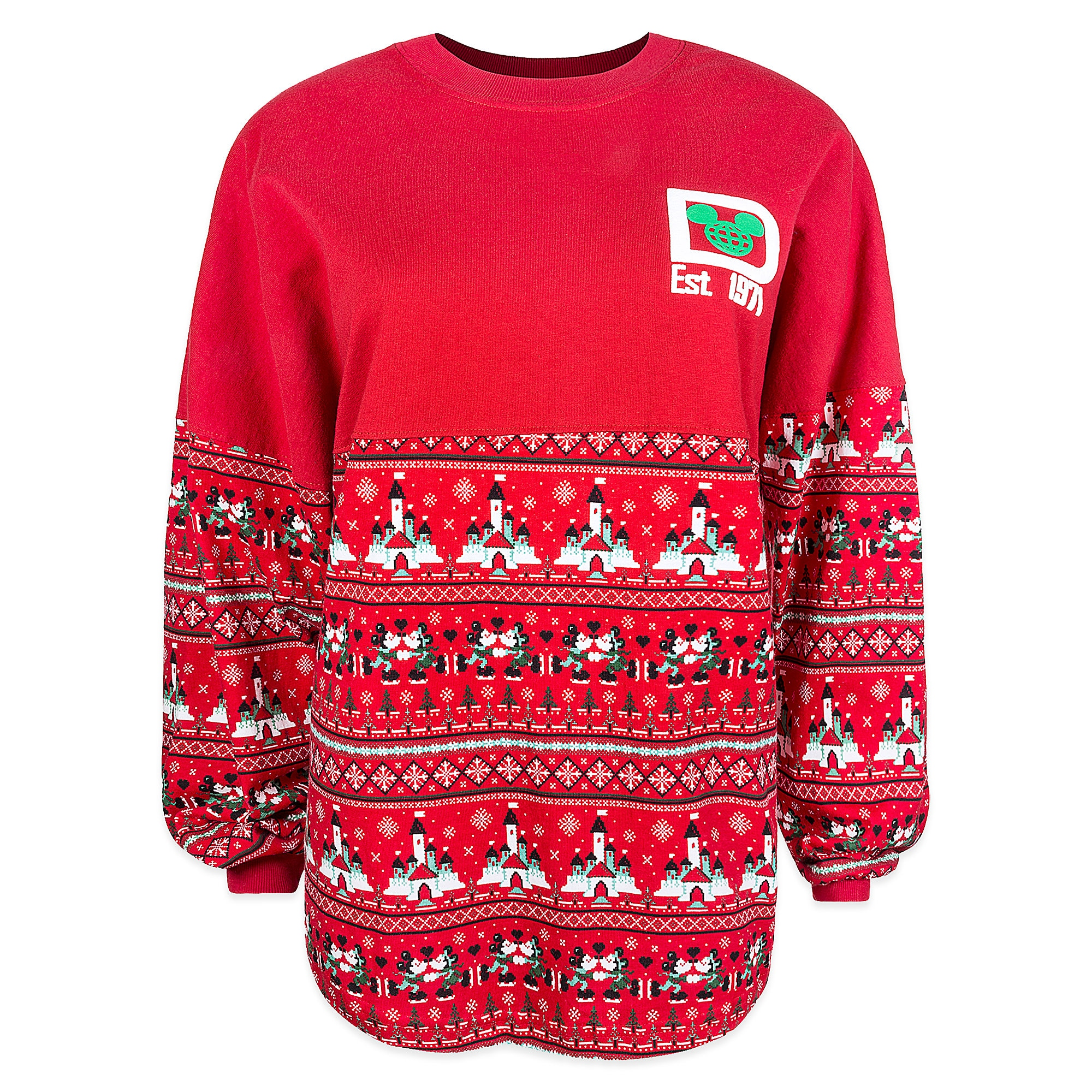 Mickey and Minnie Mouse Holiday Spirit Jersey Top for Women - Walt Disney World