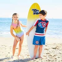 Image of Captain America Swim Trunks for Kids # 5