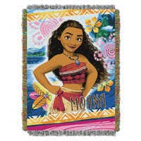 Image of Moana Woven Tapestry Throw # 1