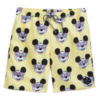 Image of Mickey Mouse Swim Trunks for Men by Neff # 1