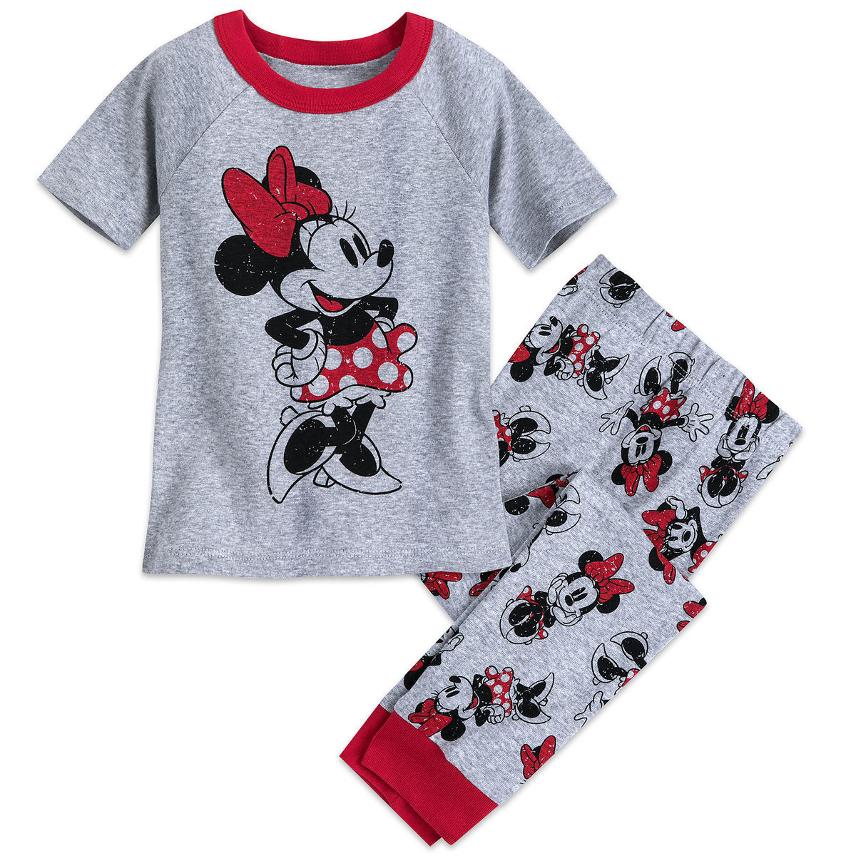 Product Image of Minnie Mouse Pajama Set for Girls - Mickey and Minnie  Family Sleepwear   a82ffceae