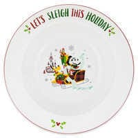 Image of Santa Minnie Mouse and Friends Holiday Serving Bowl # 1