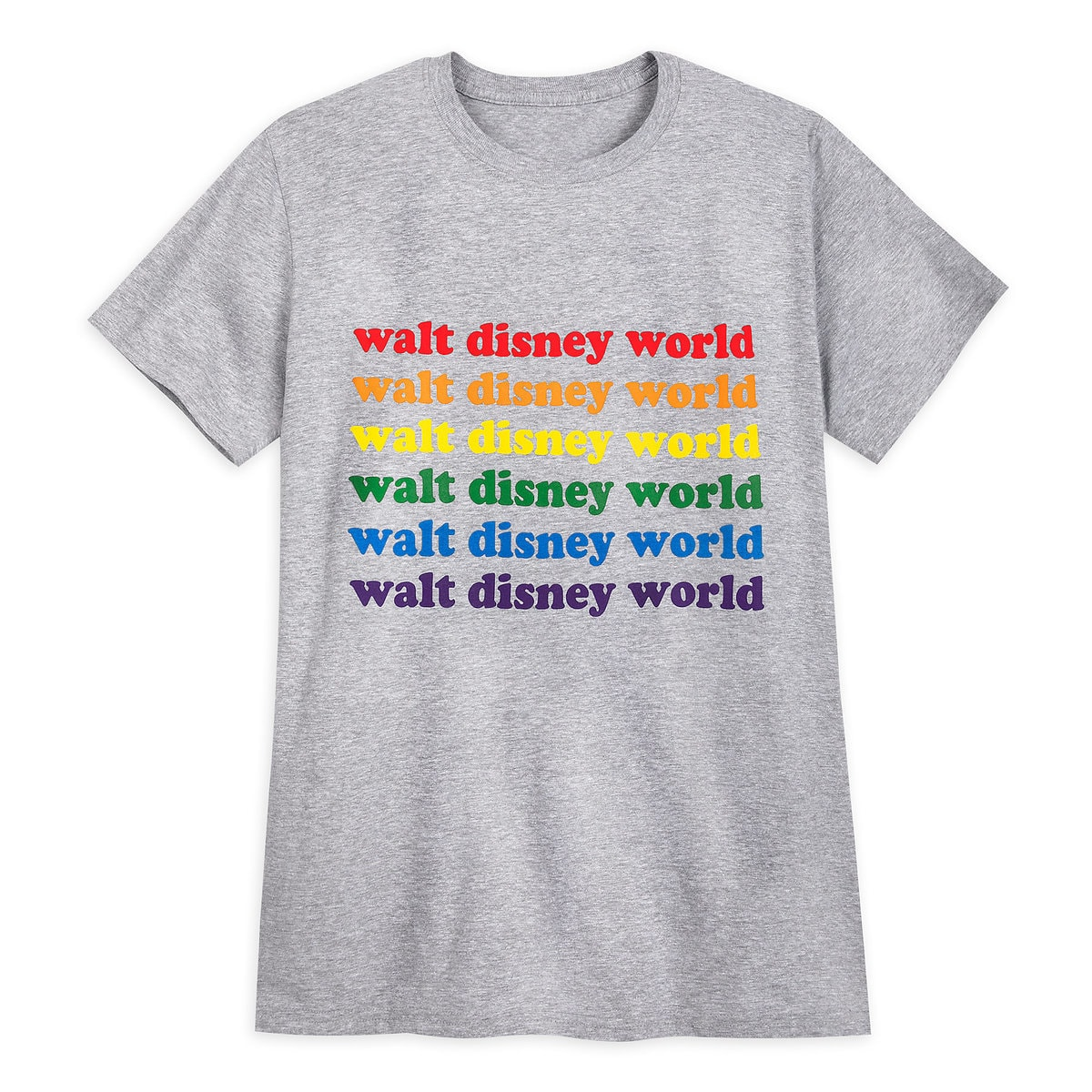 Rainbow Disney Collection Walt Disney World T Shirt For Adults