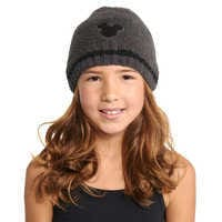 Image of Mickey Mouse Beanie for Kids by Barefoot Dreams - Carbon # 1
