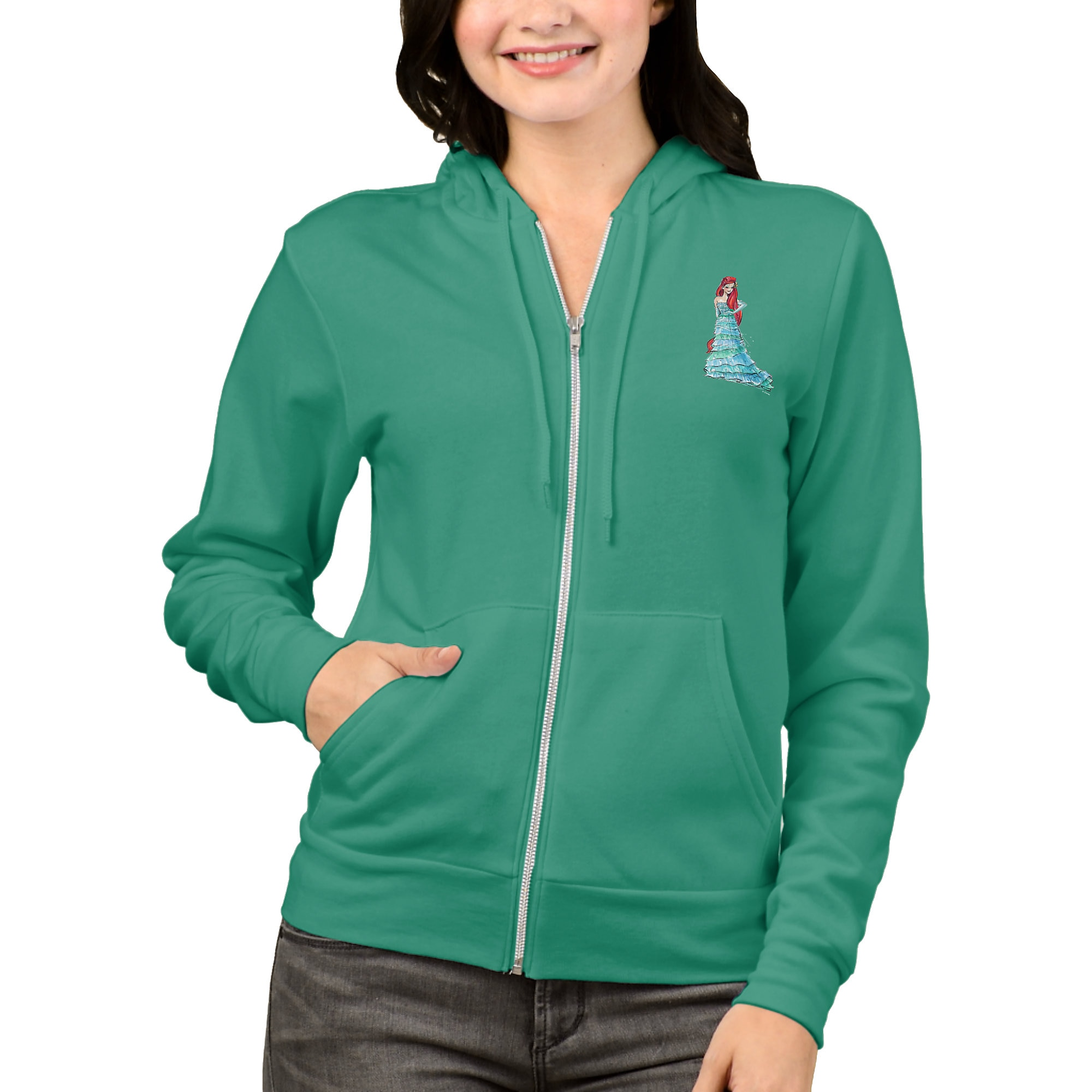 Ariel Zip Hoodie for Women - Art of Princess Designer Collection