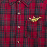 Image of Aladdin Genie Lamp Flannel Shirt for Adults by Cakeworthy - Live Action Film # 3