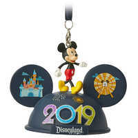 Image of Mickey Mouse Light-Up Ear Hat Ornament - Disneyland 2019 # 1