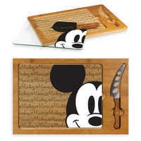 Image of Mickey Mouse Glass Top Serving Tray and Knife Set # 3