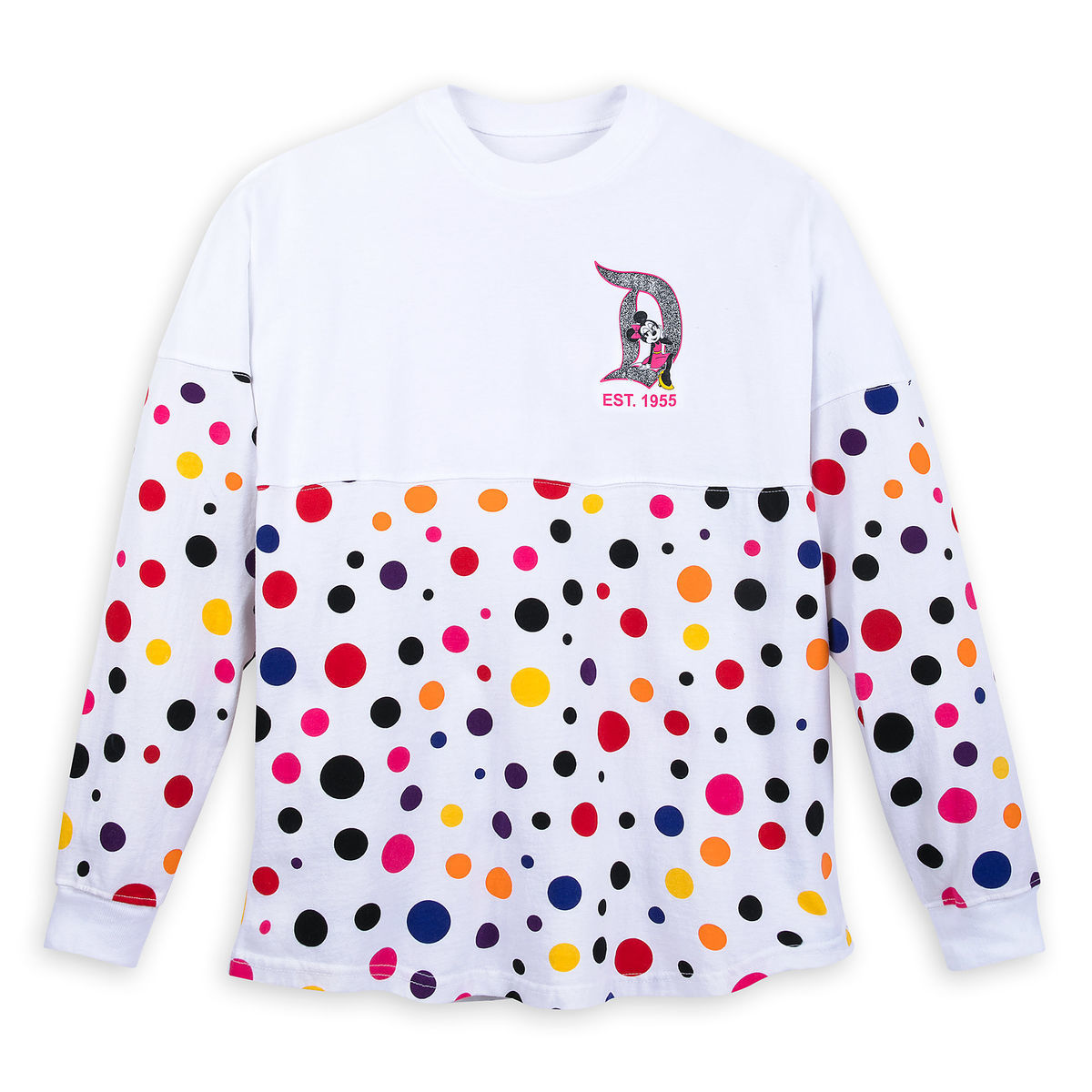 Product Image of Minnie Mouse Polka Dot Spirit Jersey for Adults -  Disneyland   1 c0720c2f3