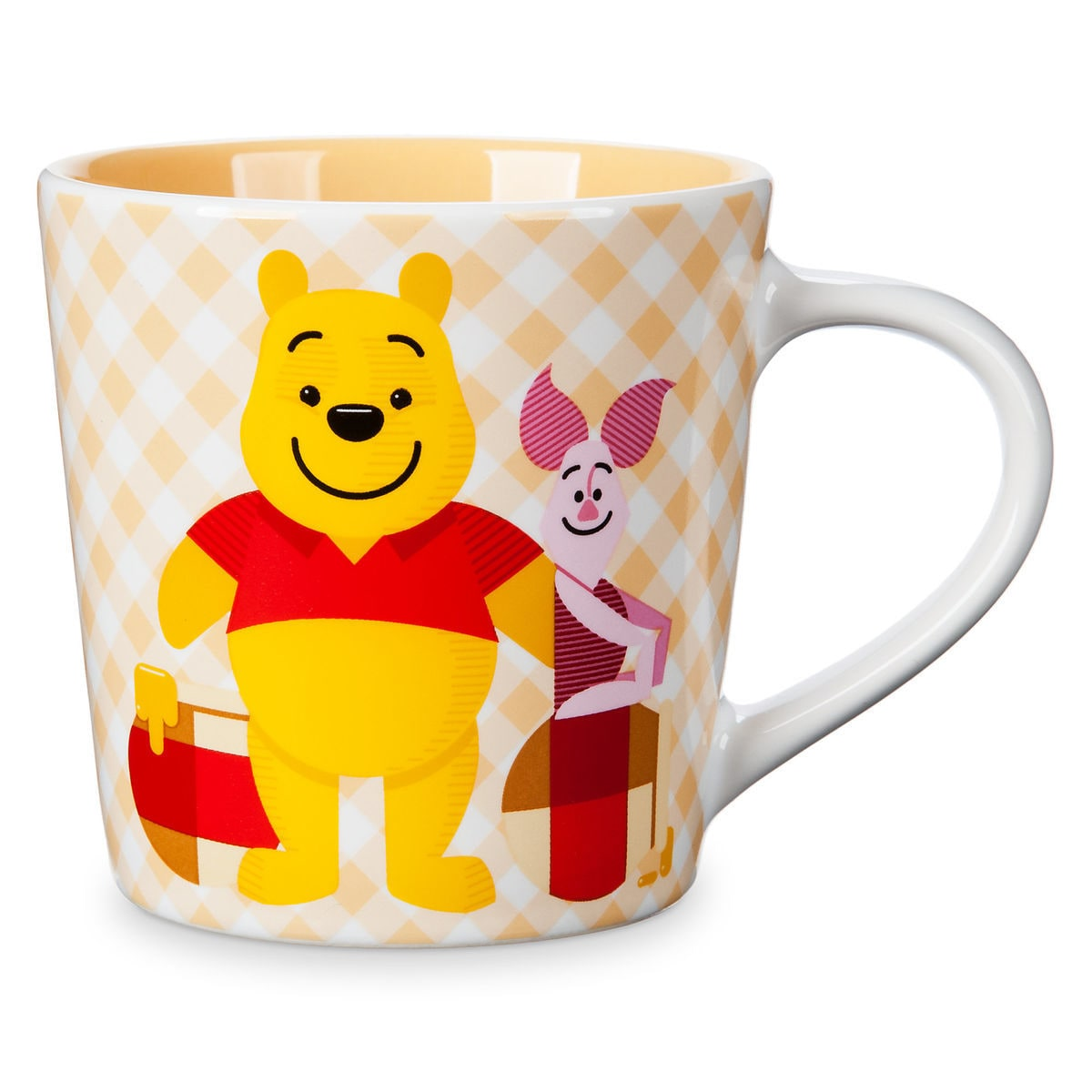 Product Image of Winnie the Pooh and Piglet Checkered Mug   1 8ed4a869d