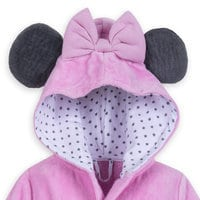 Image of Minnie Mouse Hooded Bath Robe for Baby - Personalizable # 3