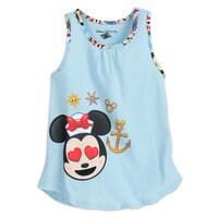 Minnie Mouse Emoji Tank Top and Shorts Set - Disney Cruise Line - Girls
