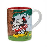 Image of Mickey and Minnie Mouse Picnic Kiss Mug # 1